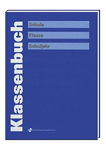 Klassenbuch, blau