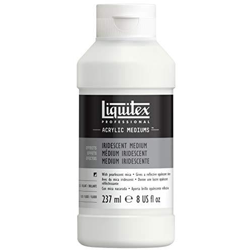 Liquitex 107008 Professional Irisierendes - Perlmutt Medium mit Acrylfarbe und -medien mischbar, zum Erzielen von metallischen perlmuttartigen Effekten -237ml Flasche