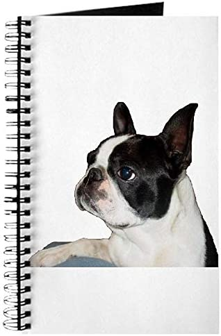 CafePress Boston Terrier Pleading Eye Spiral Bound Journal Notebook Personal Diary Task Journal product image