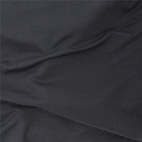 TELIO Stretch Bamboo Rayon Jersey Knit, Yard, Black