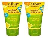 Esfoliante facial havaiano com enzima purificante de abacaxi Alba Botanica Pore, tubos de 4 onças (pacote com 2)