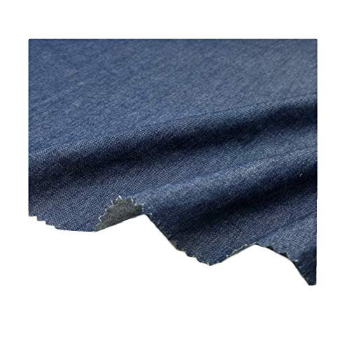 Denim stof gewassen katoen dun gemaakt broek kleding overhemd rok schort diy stof 150 cm breed verkocht per meter (Color : Dark blue)