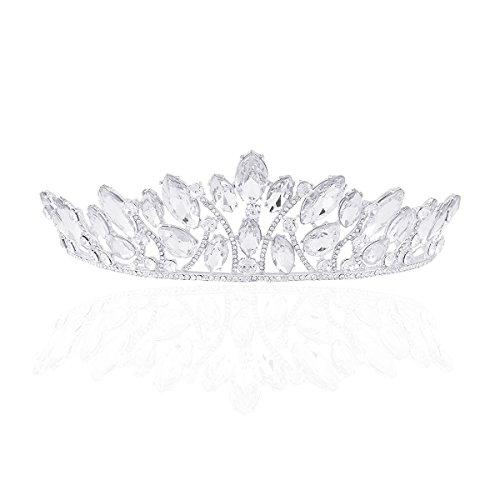 Frcolor Tiara Diadema Corona Princesa Boda Novia Joyas para Pelo con Cristal...