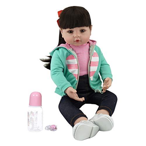 XINGYUE Muñeca de silicona realista de 19 pulgadas, muñecas realistas renacidas de vinilo suave de silicona para recién nacidos, niñas, juguete hecho a mano para niños, regalo de Navidad y cumpleaños