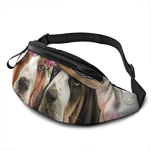 AOOEDM El Modelo del Perro imprimió el Bolso de la Cintura, los Deportes Ajustables del Bolso de Fanny Ligeros del Viaje de la Moda Que Ejecutan el Paquete de la Cintura