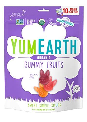 YumEarth Spring Fruit Gummy Snack Packs 198 GR