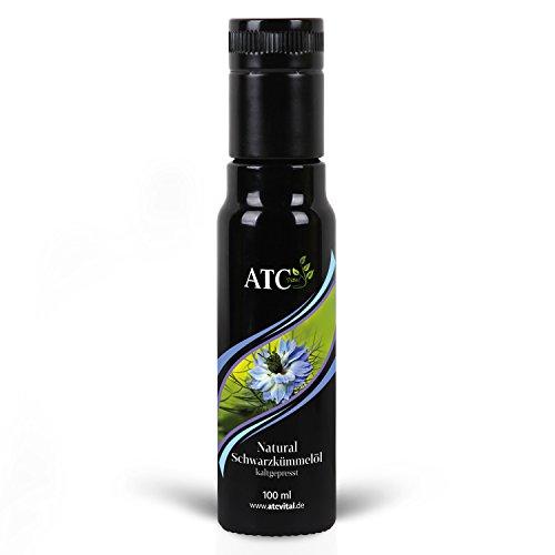 ATC Vital | Schwarzkümmelöl kaltgepresst und gefiltert, reines Öl aus Nigella Sativa Samen, 100ml