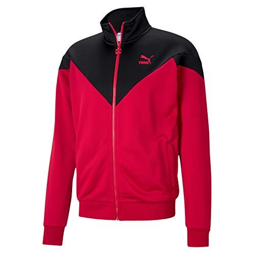 PUMA Iconic Mcs Track - Giacca da uomo Iconic MCS Track Jacket, Rosso - high risk red, M