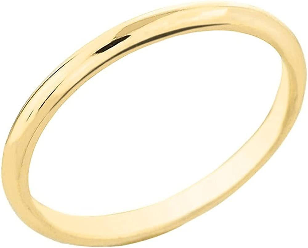 10K Yellow Gold Dainty 2mm gift Wide Wed Band Fit Traditional It is very popular Comfort