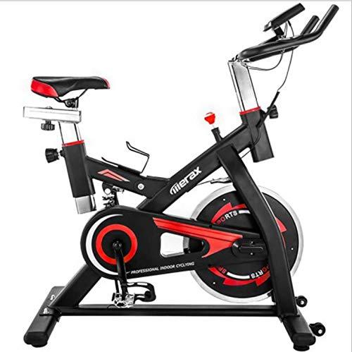 Cubierta bicicleta de ejercicio en bicicleta, una correa de transmisión directa, un volante de inercia 20 kg, la fricción, la pantalla, mango ergonómico, un sensor de frecuencia cardíaca, un ajuste de