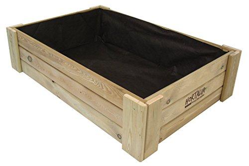 Hortalia Box - Huerto Urbano Cajón de Cultivo, 120 x 30 x 80 cm