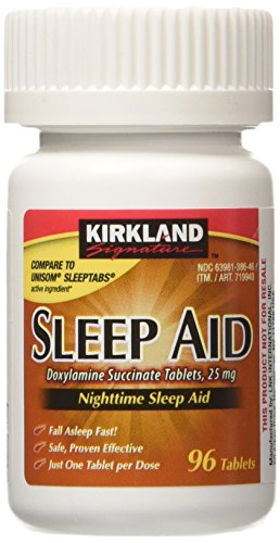 KIRKLAND SIGNATURE Sleep Aid Doxylamine Succinate 25 Mg X Tabs (53201812) No Flavor 96 Count