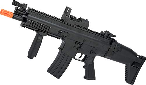 Evike FN Herstal Licensed Scar-L Full Size Entry Level Airsoft AEG Rifle by Cybergun (Color: Black)