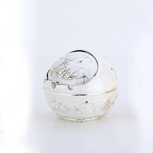 XP-ashtray Edelstahl-Aschenbecher-Konzept mit Abdeckung Große Persönlichkeit zu Hause Trend europäischen Wohnzimmer Winddicht Metall Dichtung Silber Weißen Aschenbecher