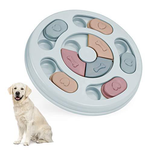 Wishstar Hundespielzeug Intelligenz, Hunde Spielzeug, Hundefutter Lernspielzeug, Langsamerer Feeder Kann die IQ-Puzzle-Schüssel der Welpen Verbessern(Blau)