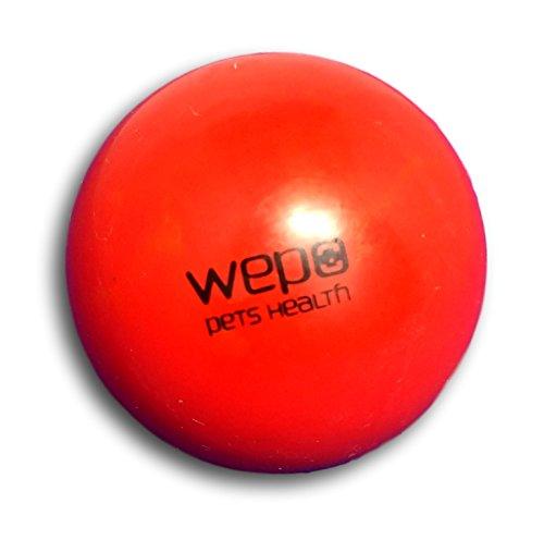 WEPO® Hundespielzeug/Hundeball - Kauspielzeug mit Zahnpflege-Funktion - Robuster Naturkautschuk Ball - Hundespiel-Ball - Welpenspielzeug