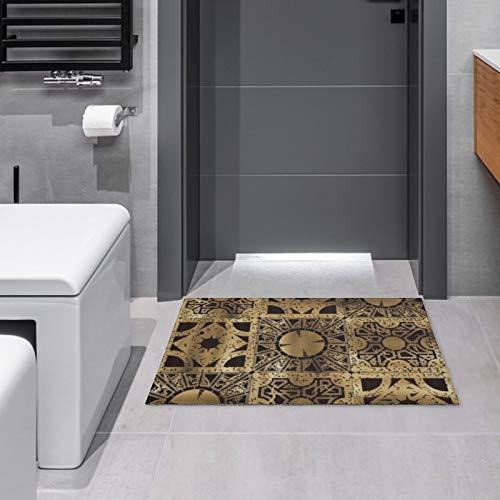 Felpudo para interiores y exteriores, diseño de lamento, para puerta de baño, cocina, decoración de área de entrada, antideslizante, 39,8 x 59,9 cm