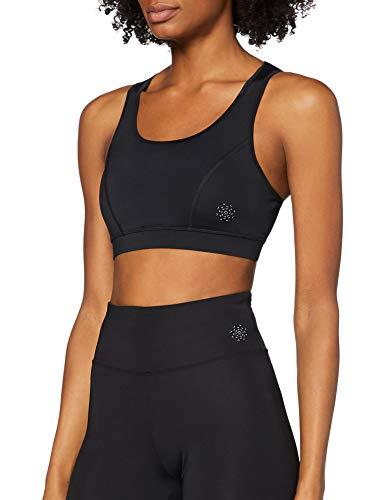 Marca Amazon - AURIQUE Low Impact Strappy - Sujetador deportivo Mujer, Negro (Black), M, Label:M