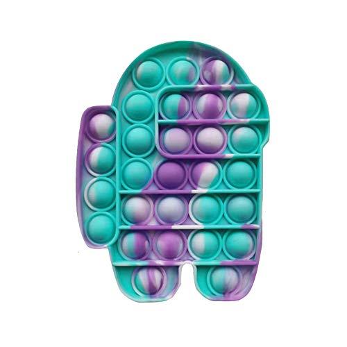 BoBoLily Push Pop Bubble Sensory Fidget - Juguete sensorial de desestrés con burbujas directas, juguete de silicona para aliviar el estrés (A)