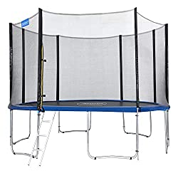 Monzana-trampoliini Ø 366 cm TÜV SÜD GS -sertifioitu täydellinen sarja, joka sisältää turvaverkon, tikkaat, reunakannen ja tarvikkeet - lasten trampoliini puutarhatrampoliini