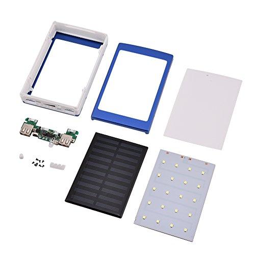 Banco de energía DIY, Kit de Banco de energía de Aluminio con luz LED de Brillo de 3 Niveles, para Oficina al Aire Libre, Sala de Estar en casa(Blue)