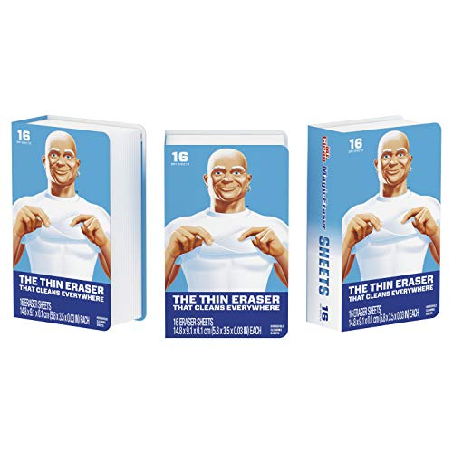Mr. Clean Magic EraserSheets, 3 Packs of 16 Sheets, 48 Count