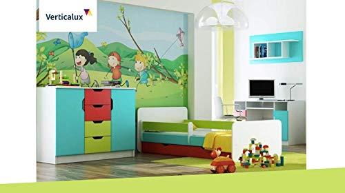 EIN Set de 4 pièces pour Enfant Winnie l'ourson 6 avec lit. Amusez-Vous en Toute sérénité pour Votre Enfant