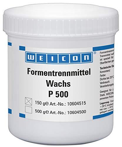 Weicon 10604515 Formentrennmittel Wachs P 500 150 g Trennwachs für poröse Oberflächen, weiß-milchig, 150g