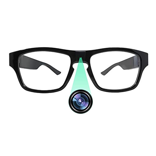TECHNOVIEW USB 1080p Full HD, Inbuilt 16GB Memory, No Hole, Hands-Free, Touch Control, HD Video, and Audio Recording, Mini Spy Camera Glasses for Home/Office/Car/Meeting