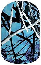 Undertow Blue Camo Jamberry Nail Wraps   Nail Decal Design   Fun & Trendy Nail Art Stickers   Perfect Gift for DIY Easy Nail Art   1 Half Sheet to do 1 Manicure & 1 Pedicure