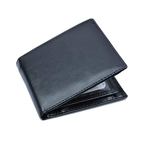 WT-DDJJK Monedero Billetera, Billetera Corta Vintage de Cuero PU para Hombres, Tarjetero para Tarjetas de crédito, Monedero Comercial Plegable, Rebajas de Black Friday 2020