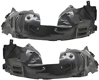 Partomotive For 16-19 Mustang Shelby V8 Front Splash Shield Inner Fender Liner Panel SET PAIR