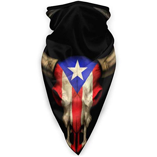 Lawenp Personalidad Bandana de cuello lavable Rayado Bahamas Dj Skull Ajustable Ultravioleta Transpirable Actividades sin costuras