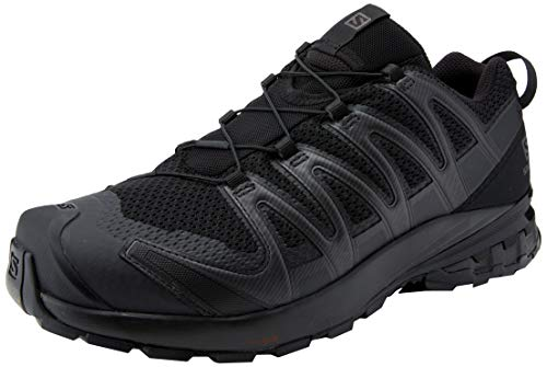 Salomon Men's Trail Running Shoes, XA PRO 3D v8, Colour: Black (Black/Black/Black), Size: UK size 9