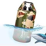 Idefair Borsa Impermeabile a Secco, Zaino da Spiaggia Galleggiante Borsa da Viaggio Leggero a Secco per la Spiaggia, Canottaggio, Pesca, Kayak, Nuoto, Rafting, Camping10L 20L 46L