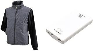 ヘンリービギンズ(HenlyBegins) 電熱ベスト テラヒート 杢グレー S モバイルバッテリー1個セット