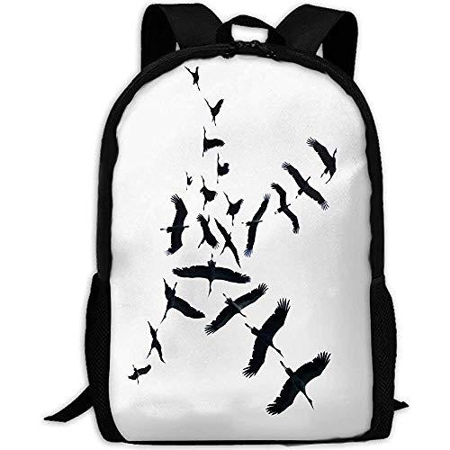 Flying Stork Daypacks, reis-rugzak voor volwassenen, schooltas, casual dagrugzak, Oxford outdoor laptoptas, college computer schoudertassen