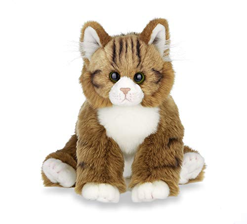 Bearington Collection Manny Plush Stuffed Animal Orange Tabby Maine Coon Cat, Kitten 15 inches