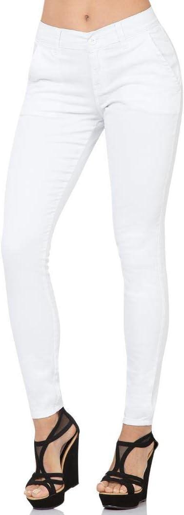 Pantalon Oggi Jeans Mujer Blanco Gabardina Stretch Chinos Skinny Amazon Com Mx Ropa Zapatos Y Accesorios