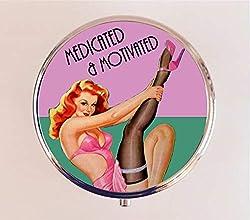 handmade pill box ~ vintage pill box