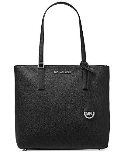MICHAEL Michael Kors Women's Morgan Medium Tote PVC Logo Black Handbag
