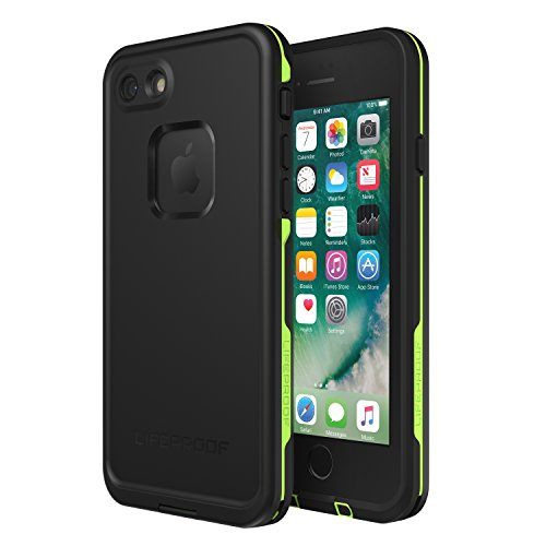 Lifeproof FRĒ SERIES Waterproof Case for iPhone SE (2nd gen - 2020) and iPhone 8/7 (NOT PLUS) - Retail Packaging - NIGHT LITE (BLACK/LIME)