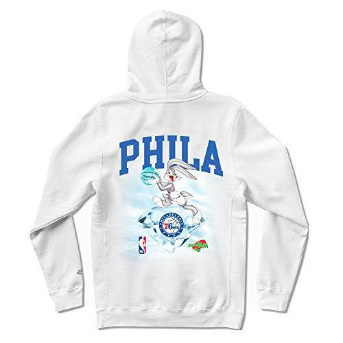 Diamond Supply Co. x NBA Space Jam 2 Men's Philadelphia 76ers Long Sleeve Pullover Hoodie White 2XL