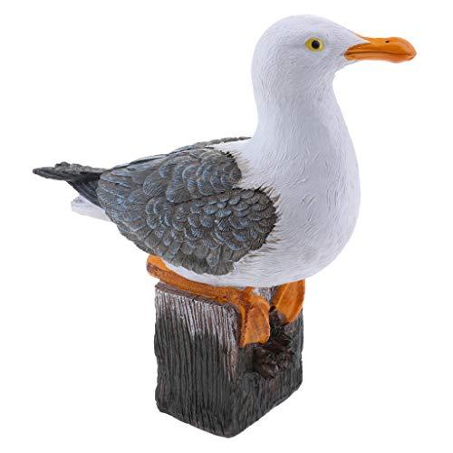 LOVIVER Realistische Waldvögel für Wohnkultur - Möwe #20 x 9 x 20 cm