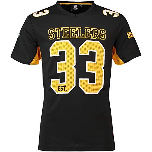 Fanatics Pittsburgh Steelers T Shirt NFL Fanshirt Jersey American Football Schwarz - M