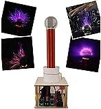 Wghz Musica Tesla Coil Spark Gap Esperimento Fisico, FAI da te CREA generatore di fulmini artificiali Touchable Alta efficienza Bobina di Tesla Scienza Giocattoli educativi