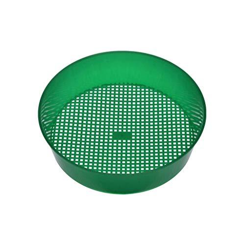 Eejiuqiba Gartensieb Rundsieb Kunststoff-Gartensieb-Rätselgrün für Composy Soil Stone Mesh-Gartenwerkzeug Erdsieb Rund Sand Garten Sieb 3 und3.5 mm