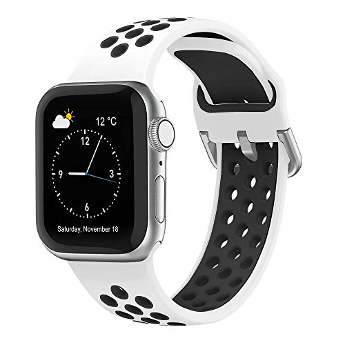 Hatolove Correa para Apple Watch, Compatible con Correa iWatch 44mm 42mm 38mm 40mm, Transpirable Correa de Silicona Suave Correa Deportiva Compatible con Apple Watch SE/ iWatch Series 6 5 4 3 2 1