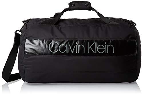 Calvin Klein Herren Puffer Gym Duffle Schultertasche, Schwarz (Black), 27x49x28cm