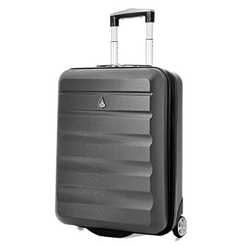 Aerolite 55x40x20 Lightweight 2 Wheel Hard Shell Hand Cabin Luggage Travel Suitcase Ryanair Priority Boarding Maximum Allowance